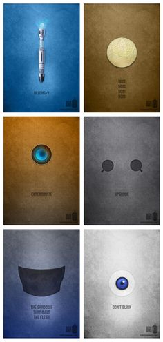 "nightowl81:    Minimalist ""Doctor Who"" posters by Karma Orange.  (check out the website for more!)"" data-componentType=""MODAL_PIN"