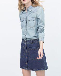 Imagen 4 de camisa denim de Zara