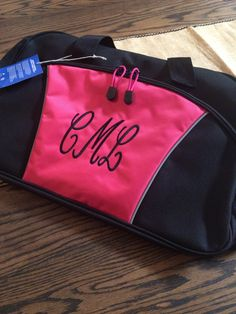 A personal favorite from my Etsy shop https://www.etsy.com/listing/259241821/monogrammablepersonalized-duffle-bag