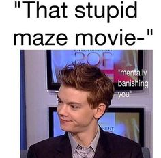 I do this every time someone says something bad about Thomas Sangster or The…