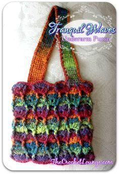 Tranquil Waves Underarm Purse | The Crochet Lounge™ Free Crochet Purse Pattern
