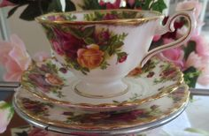This a sample of some of the vintage china trios we have to offer for you High Tea Event