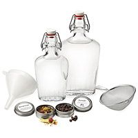 DIY liquor need not be banished to the bathtub! Embrace the do-it-yourself spirit by concocting your own batch of quality gin without a whole host of expensive (not to mention illegal!) distilling equipment.  HOMEMADE GIN KIT|UncommonGoods