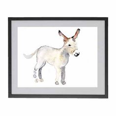 BABY DONKEY Original watercolor painting by Mydrops on Etsy