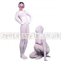 Full Body White Lycra Spandex Zentai Suit