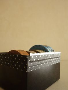 サランラップの箱の刃を使ってマスキングテープカッターに #craft #washitape