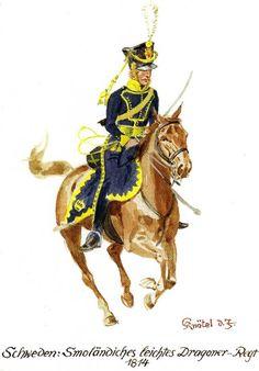 Regno di Svezia - Smolaendiches leichtes Dragoner - Regt - 1814