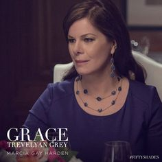 Meet Christian Grey's family in these new pictures from EW.com: Marcia Gay Harden is Grace Trevelyan Grey. | Fifty Shades of Grey | In Theaters Valentine's Day