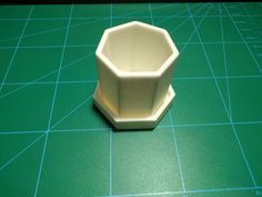 The heptagonal planter and tray assembled.