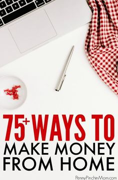 Simple side-hustle ideas to help you make more money at home. Use the income to get out of debt or live the life you want! Easy things anyone can do to replace your income or just make a little more on the side. Make Money Earn More Money, Earn Money From Home, Make Money Fast, Make Money Online, Living On A Budget, Frugal Living Tips, Surveys For Money, Work From Home Tips, Extra Money