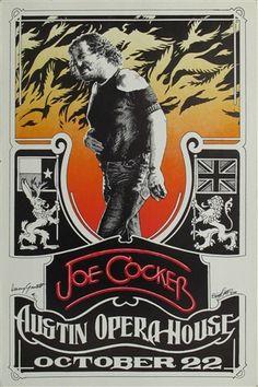 Joe Cocker Original Concert Poster