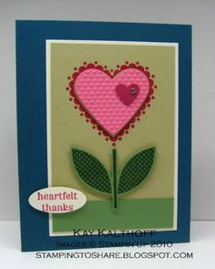Sweet Thanks by Speedystamper - Cards and Paper Crafts at Splitcoaststampers