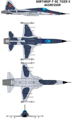 Northrop Tiger II aggressor General characteristics Crew: 1 Length: 47 ft in m) Wingspan: 26 ft 8 in m) Height: 13 ft in m) Wing area: 186 ft² m²) Airfoil: NACA. Airplane Fighter, Airplane Art, Fighter Aircraft, Military Jets, Military Weapons, Military Aircraft, Jet Fighter Pilot, Fighter Jets, Avion Jet