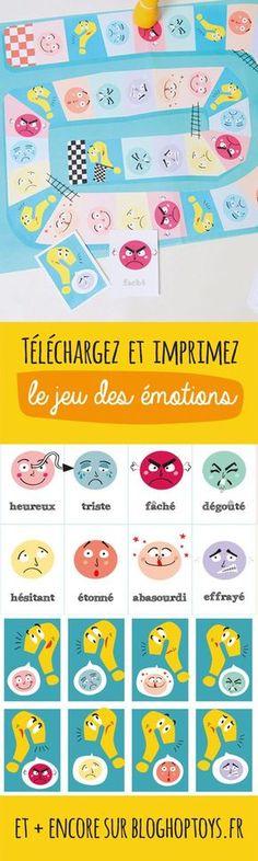 L'apprentissage de la reconnaissance des émotions et des expressions faciales est très important pour tous les enfants. Nous vous proposons un jeu de plateau que vous pourrez utiliser facilement pour amliorer cette compétence avec votre enfant ! Téléchargez vite notre jeu pour apprendre à votre loulou : la joie, la tristesse, la surprise, la peur et la colère…