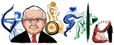 Professor Sir Ludwig Guttmann's 122nd Birthday Google Doodles, Doodle 2, Google Today, Ludwig, Founding Fathers, World War Two, Vignettes, Cute Wallpapers, Sketches