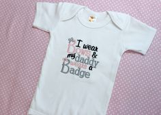 Baby Girls Embroidered Police Bodysuit  by AllThatSassBoutique, $18.00