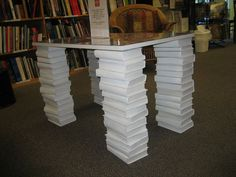 How to make book table legs