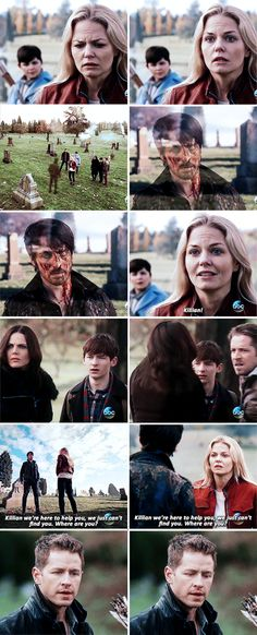 """""""Killian, we're here to help you, we just can't find you. Where are you?"""" - Emma, David, Snow, Henry, Regina, Robin and Killian #OnceUponATime ((OMG KILLIAN!! WHAT HAPPENED TO HIM??!!))"""