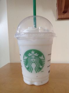 Tall vanilla bean frap with 2 pumps of peppermint