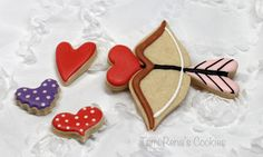 How to make a Valentines Bow and Arrow Cookie