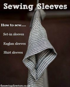 Sewing Techniques Dressmaking skills - Sewing sleeves guide from Merchant Sewing Basics, Sewing Hacks, Sewing Tutorials, Sewing Tips, Basic Sewing, Tutorial Sewing, Sewing Ideas, Sewing Patterns Free, Free Sewing