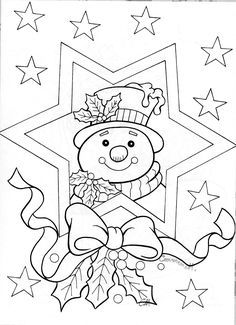 Snowman in star