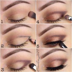 Una forma eficaz y rápida de darle un cambio a tu mirada. #maquillaje #ojos #trucos