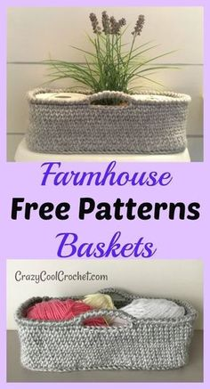 Farmhouse style decor crochet basket free pattern super versatile but perfect for hard to decorate bathroom unique teacher gift great holiday christmas gift freecrochetpattern freecrochetpatterns crochetbasket crochetideas crochetgift coolcroch Crochet Simple, Crochet Home Decor, Knit Or Crochet, Free Crochet, Crotchet, Scrap Crochet, Learn Crochet, Crochet Decoration, Unique Crochet