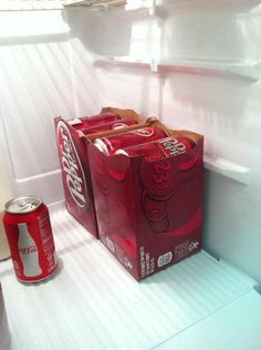 If Your Soda Doesn't Fit in the Fridge, Tear the Box in Half | 32 Bachelor Hacks That Will Improve Everyone's Lives