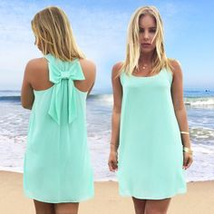Summer Dress with Bow on The Back Dress