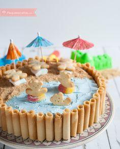 Tarta playera, una tarta de cumpleaños fácil (PequeRecetas)