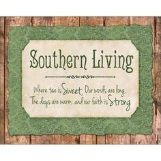 Southern Living Pride Wood Grain Pattern Inspirational Typography Green & Tan Canvas Art by Pied Piper Creative, Size: 16 x 20