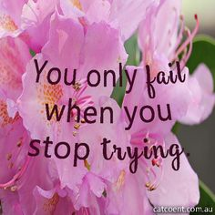So don't stop trying!