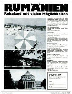 Original-Werbung/ Anzeige 1970 - URLAUB IN RUMÄNIEN - ca. 150 x 180 mm