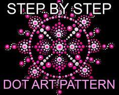 Dot Art Painting, Painting Patterns, Stone Painting, Painting Tips, Mandala Stencils, Mandala Art, Trinity Symbol, Chalk Pencil, Teal Paint