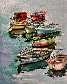 "🎨 Watercolor blog on Instagram: ""🎨 Watercolorist: @umitserpil_ ⠀ #waterblog #акварель #aquarelle #painting #drawing #art #artist #artwork #painting #illustration…"""