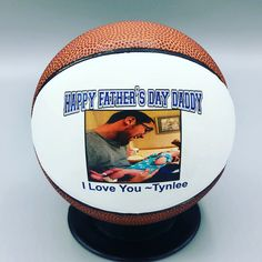 Say Happy Father's Day with a personalized sports ball! Great unique gift for any sports enthusiast! Baseball Gifts, Sports Gifts, Personalised Frames, Personalized Gifts, Happy Fathers Day Daddy, Daddy I Love You, Volleyball Gifts, Coach Gifts, Unique Gifts