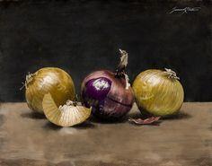 Onions - Oil on Canvas | Artist Jeremiah J. White