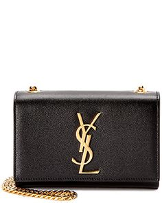 Saint Laurent Classic Small Monogram Leather Crossbody Clutch
