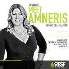 Meet Amneris Lopez, making deals happen! Learn more about her: http://resf.com/amneris-lopez