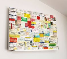 your 'favourite ticket stub' artwork by more than words 'typographic art'… Souvenir Display, Postcard Display, Ticket Stubs, Concert Tickets, Concert Ticket Display, Vivid Seats, Travel Collage, Travel Crafts, Romantic Gestures