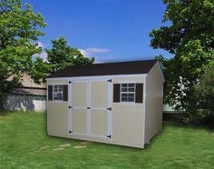 Amish Wood Value Workshop Shed Little Cottages Collection Available in 17 sizes! Our Workshop Shed features double-doors on the side wall as well as one or two windows (depending upon the shed