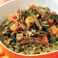 #Salade chaude de #boeuf aux #lentilles