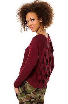 Obey Pullover The Endless Skies in Burgundy $49.95