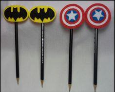 Lápis com ponteira feltro super heróis