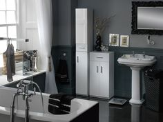Sleek Black, White And Silver Bathroom Design And Accessories From Argos.  Get The Luxe