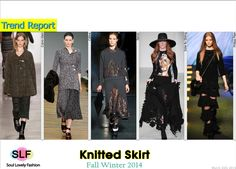 Knitted Skirt #Fashion Trend for Fall Winter 2014 #Fall2014 #Fall2014Trends #FashionTrends2014