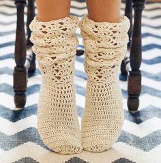 Instant download - Crochet PATTERN for socks (pdf file) - Ladies Lace Socks