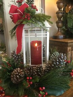 50 Affordable Christmas Table Centerpieces Ideas For Your Dining Room - Are you looking for Christmas table decoration ideas for your Christmas feasts? You need not worry because below are a couple of Christmas table decor. Lantern Christmas Decor, Christmas Table Centerpieces, Diy Christmas Decorations Easy, Christmas Arrangements, Holiday Decor, Diy Decoration, Decor Ideas, Food Ideas, Christmas Tables