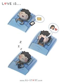 love is. ❤ (HJ Story) This is me and my bf Hj Story, Relationship Cartoons, Funny Relationship, Cute Love Cartoons, Funny Cartoons, Funny Humor, Cute Love Stories, Love Story, Sleep Love